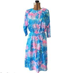 Vintage 80's sheer floral dress